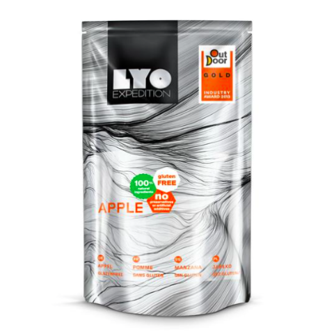 freeze dried apples, lyofood, backpacking food, freeze dried fruits, hiking snacks