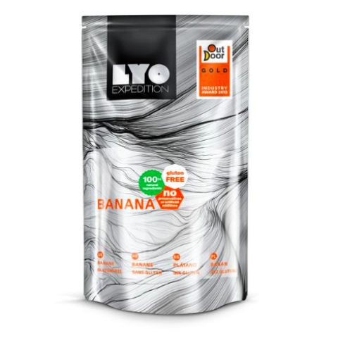 freeze dried banana, lyofood, good trail food, backpacking food, hiking snacks