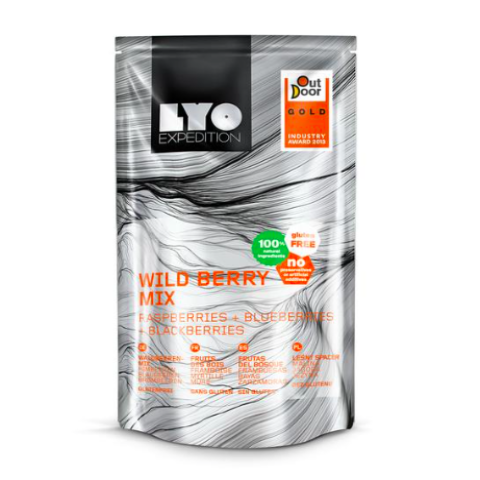 lyofood wild berry mix, freeze dried fruits, hiking snacks