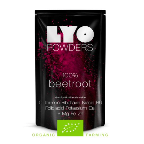 organic beetroot powder, lyofood, freeze dried powders, backpacking food, good trail food