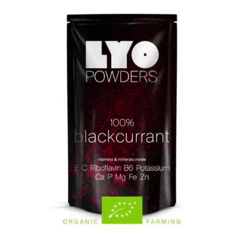 organic blackcurrant powder, lyofood, freeze dried powders, backpacking food
