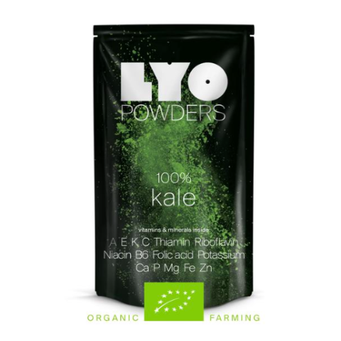 organic kale powder, lyofood, freeze dried powder, freeze dried food
