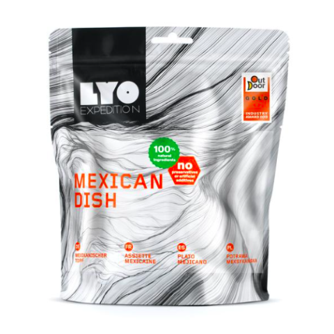 Lyofood Mexican Dish, freeze dried camping meals, backpacking food, good trail food