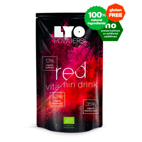 lyofood red vitamin smoothie, freeze dried powders, detox drinks