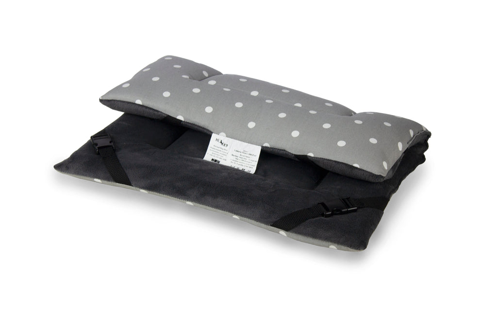 Dotty Smoke & Grey Velour Luxury Reversible Pad - HiK9