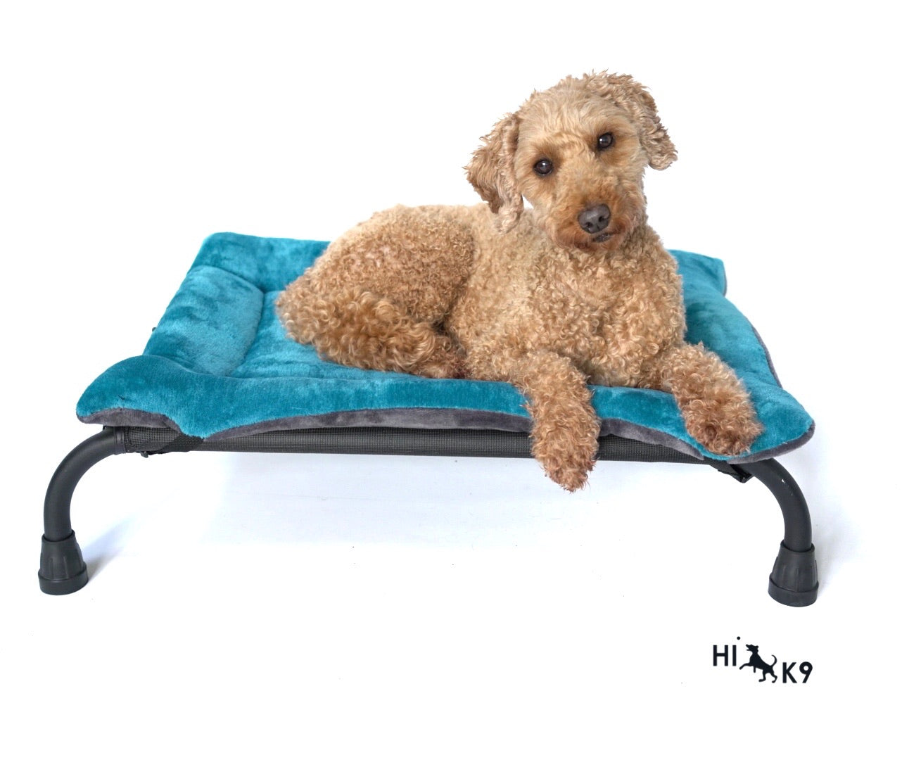 Teal Cuddle Soft & Grey Cuddle Soft Luxury Reversible Pad - HiK9