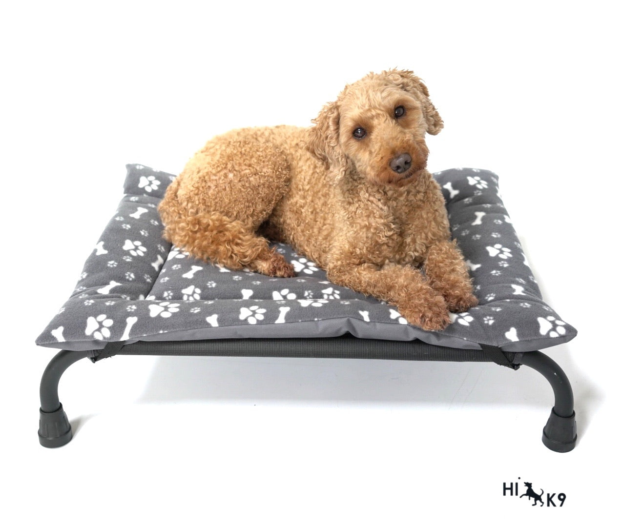 Paw Bone Print & Grey Canvas Reversible Pad - HiK9