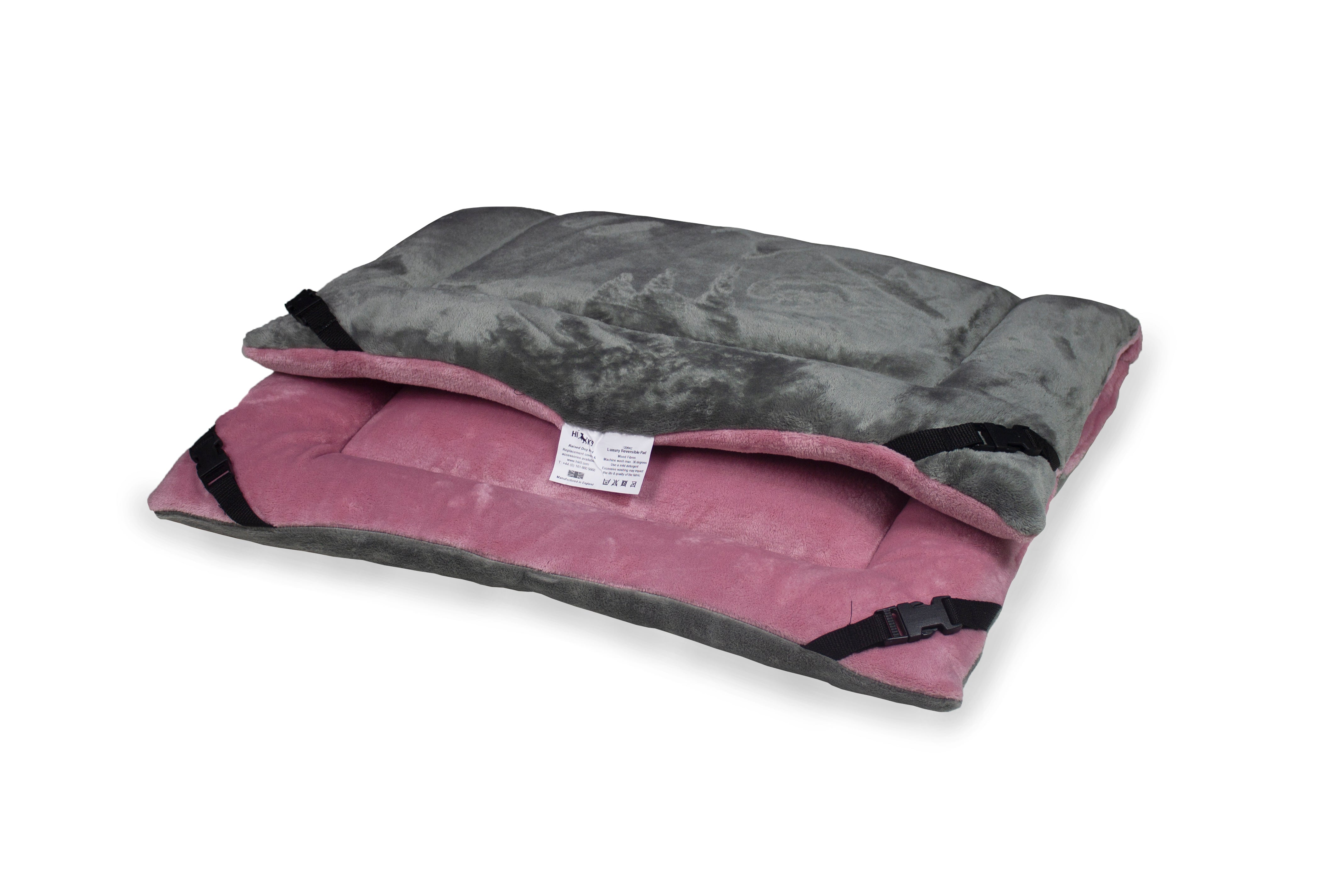Pink Cuddle Soft & Grey Cuddle Soft Luxury Reversible Pad