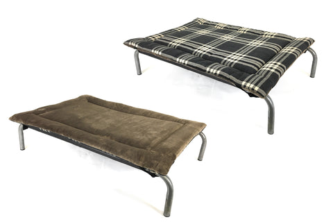 Charcoal Check & Taupe Velour Luxury Reversible Pad 35% OFF