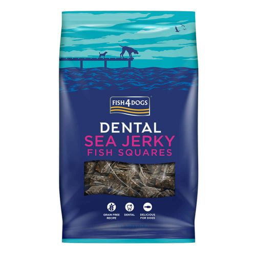 Fish4Dogs Dental Sea Jerky Fish Squares 115g