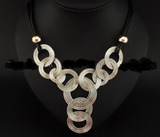 Weave Circle Metal Wire Chokers