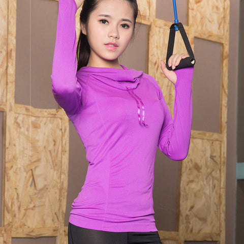 Hooded Yoga Shirts