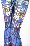 Hot Yoga Owl Print Fitness Stretch Pants