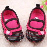 Striped Flower Baby Shoes