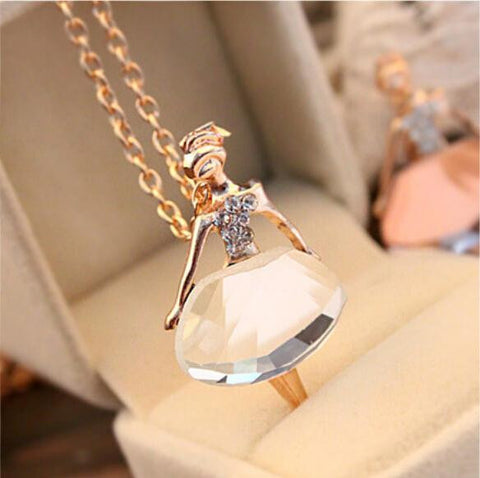 Ballet Girl Pendant Chic Necklace