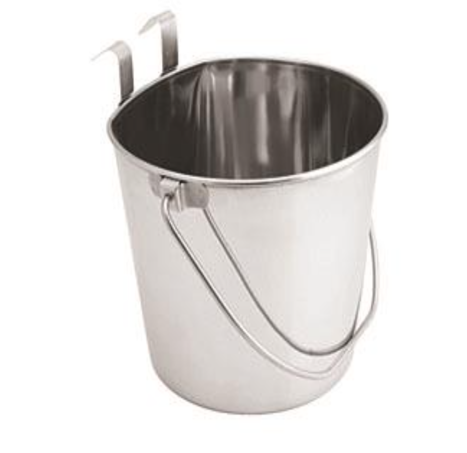 Stainless Steel Buckets with Hooks