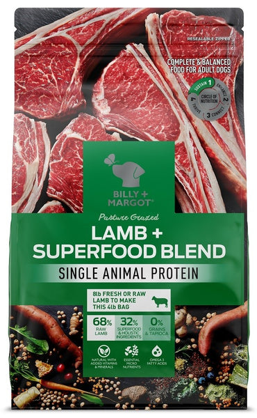Billy & Margot -Lamb Superfood Adult Dog Food