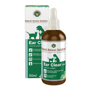 Ear Clean 50ML - Natural Animal Solutions