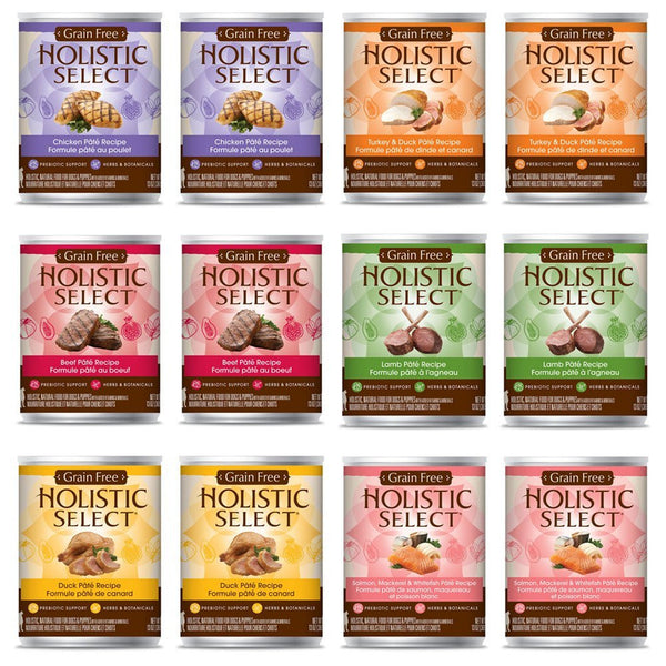 Holistic Select Grain Free Cans 12x369g - Various Types