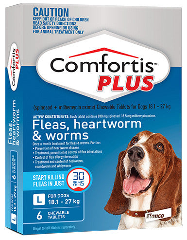 Comfortis Plus - Fleas, Heartworm & Intestinal Worm Protection 6 Pack