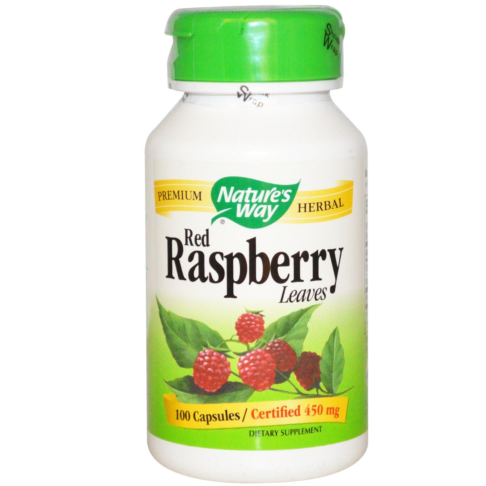 Nature's Way- Red Raspberry Leaves 450 mg 100 Capsules
