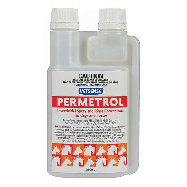 Vetsense Permetrol- Insect and fly treatment for Horses and Dogs