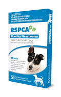 RSPCA- Monthly Heartworm Tablets (6 mths supply)