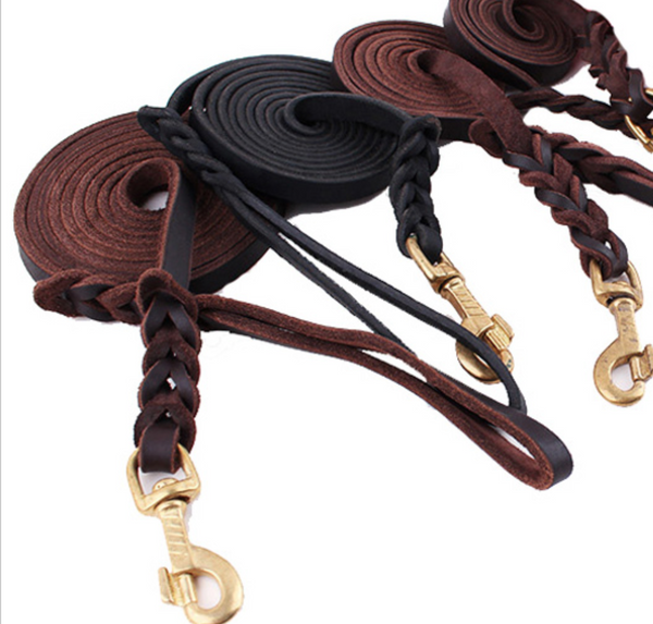 Genuine Leather Show Lead ~ Brown