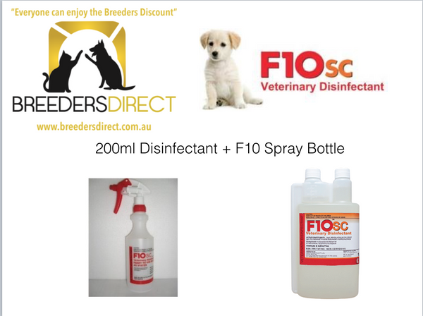 F10SC 200ml Veterinary disinfectant + F10 Spray Bottle