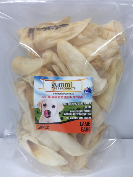 Yummi Pet Lamb Ear 50 Pack