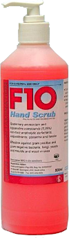 F10 Hand Scrub (Soap) Pump Pack 500ml