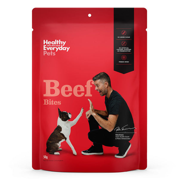 Healthy Everyday Pets- Beef Bites 50g