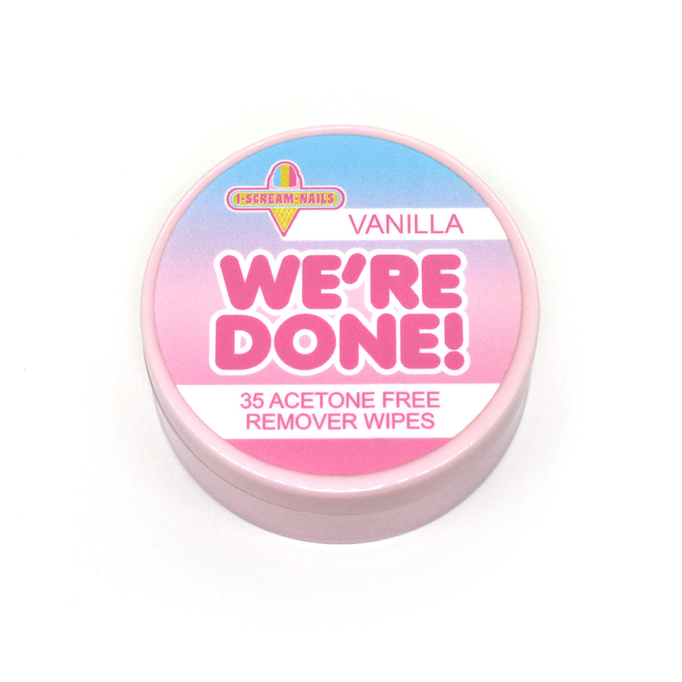 We're Done! VANILLA SCENTED remover wipes
