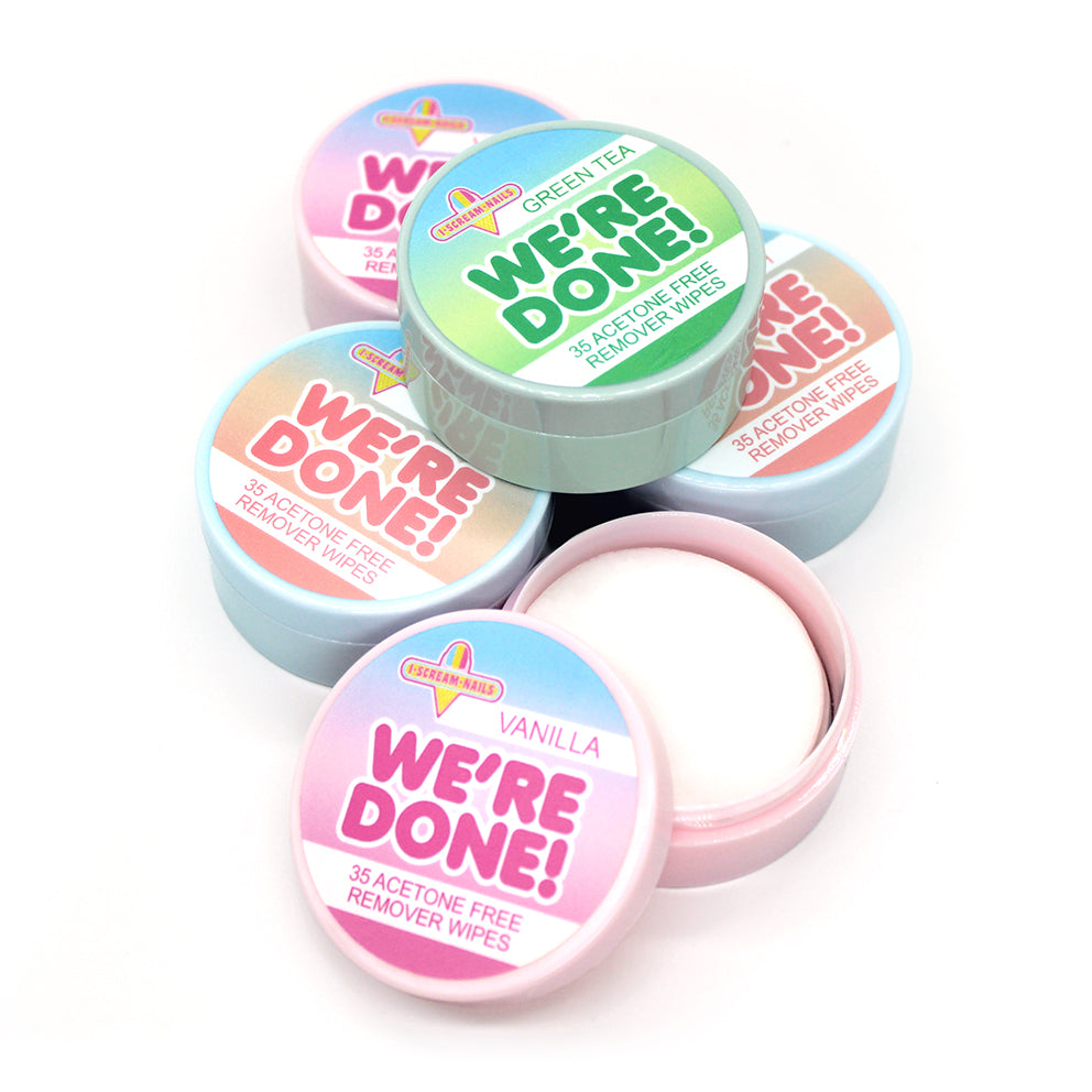 We're Done! remover wipes - 3 pack