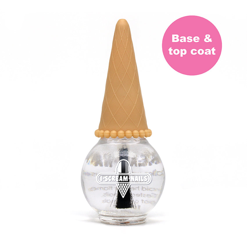 Crystal Clear BASE / TOP COAT -  2 in 1 Nail Polish