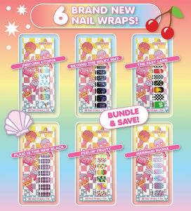 Nail Wraps - Bundle of 6 designs