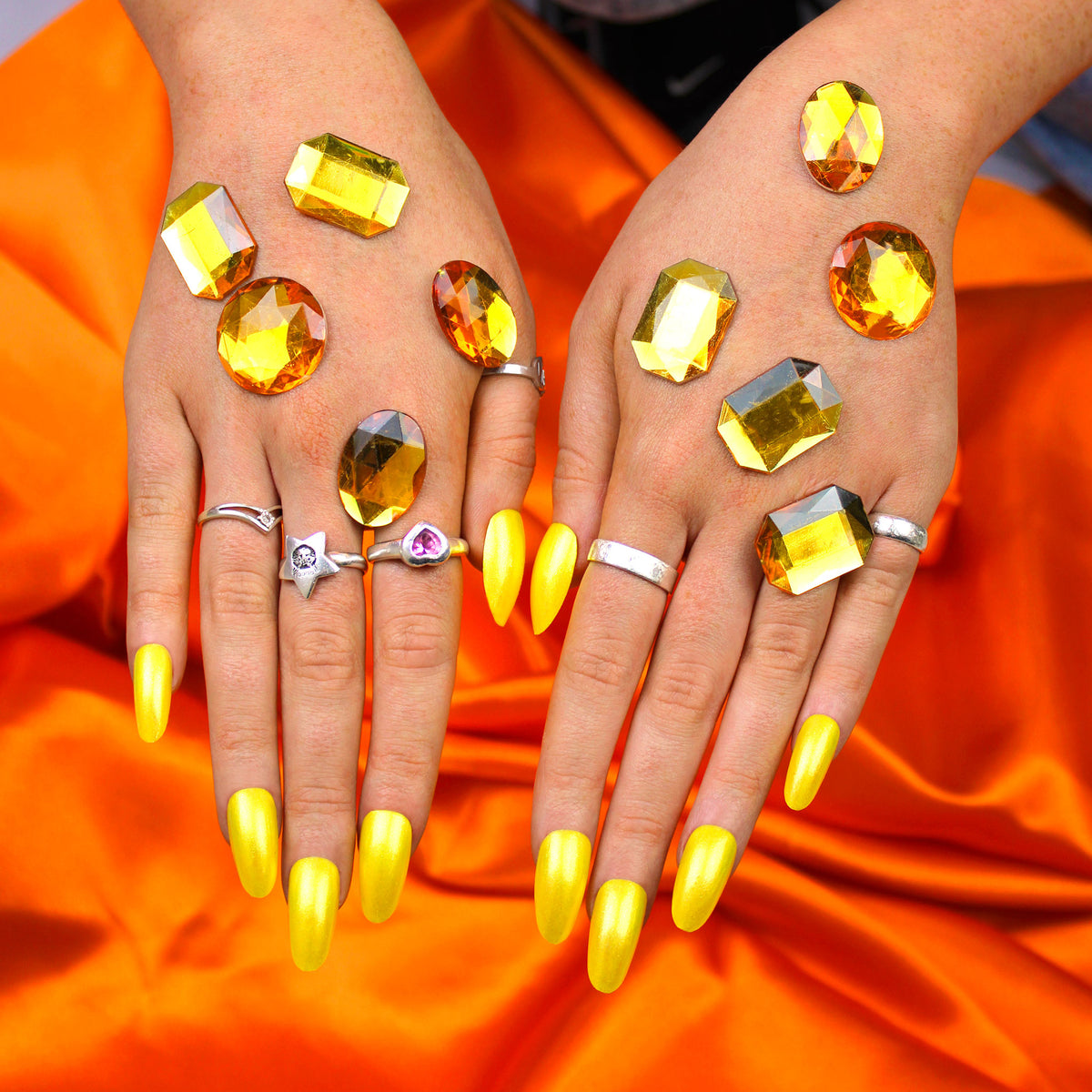 Yellow Diamond Nail Polish