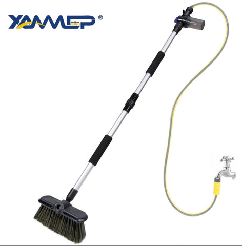 Car Wash Brush Water Flow  Long Handle Foam Bottle Car