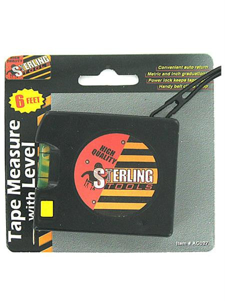 Tape Measure with Level (Available in a pack of 24)