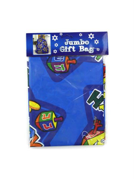 Jumbo Hanukkah plastic gift bags, pack of 12 (Available in a pack of 24)