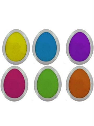 Easter egg stamp pads, set of 6 (Available in a pack of 24)