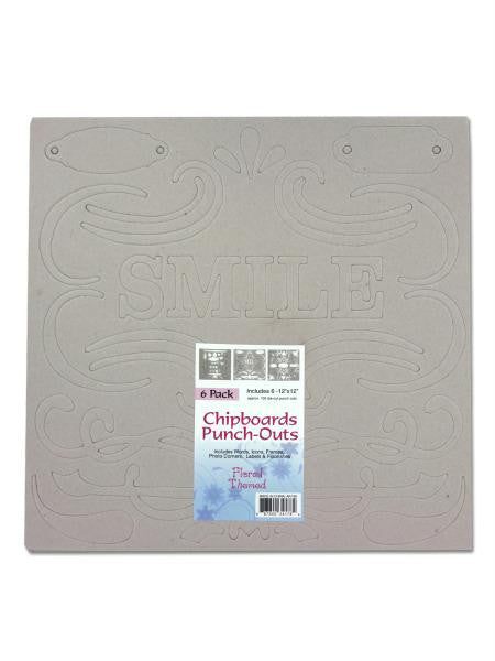 Flourish & Word Chipboards (Available in a pack of 10)