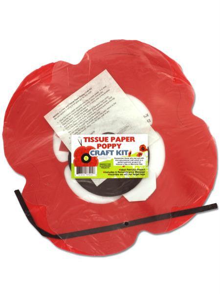 Tissue Paper Poppy Craft Kit (Available in a pack of 24)