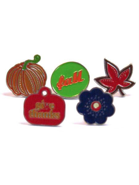 Harvest enamel brads (Available in a pack of 24)
