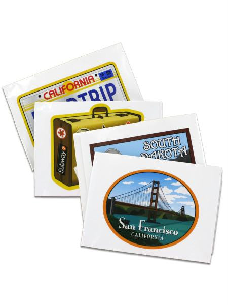 Vacation Window Clings (Available in a pack of 12)