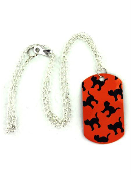 Halloween theme dog tag necklace (Available in a pack of 24)