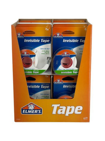 Elmer's Invisible Tape Countertop Display (Available in a pack of 24)