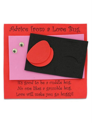 Advice from a Love Bug Craft Kit (Available in a pack of 10)