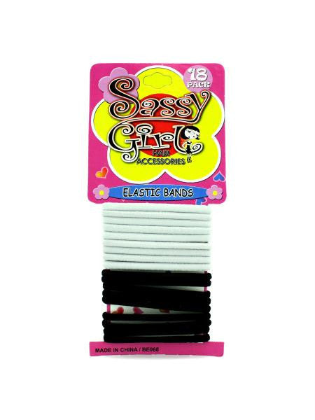 Black & White Hair Bands Set (Available in a pack of 24)