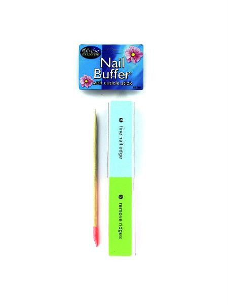 Nail Buffer with Cuticle Stick (Available in a pack of 24)
